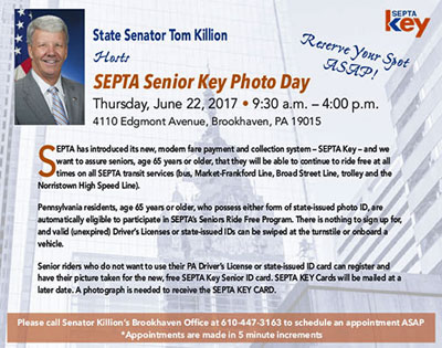 Senator Tom Killion - Pennsylvania's 9th District - E-Newsletter