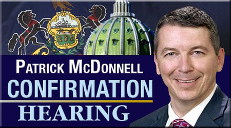 Confirmation Hearing for Patrick McDonnell