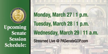 This weeks senate schedule